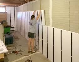 Prissy Design Finish Basement Walls Attractive How To Without