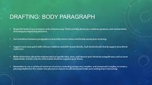 exposition analytical essay examines the details of a topic in  drafting body paragraph shape the body of your compare and contrast essay