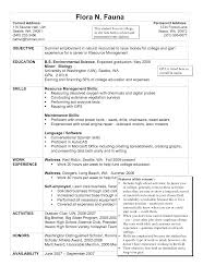 Effective Housekeeping Resume For Job Description Vntask Com