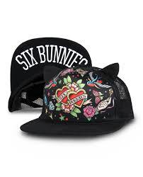 Six Bunnies Flash Cap With Ears