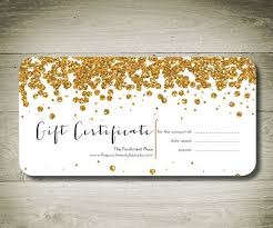 Personalised Gift Vouchers Templates All That Glitters Custom Personalised Gift By