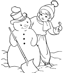 Small Picture Snowman Coloring Pages Free For Kids Winter Coloring pages of