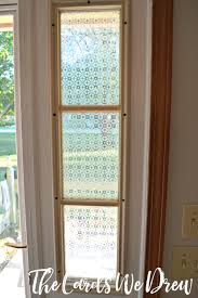 glass etched side window