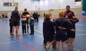 county primaries tackle blind football skills england squad england veteran will norman and new squad member brandon coleman pupils from herefordshire primary schools