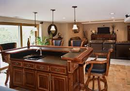 kitchen oak wood kitchen cabinet dark and white ceiling combination bar stools with cushion frame