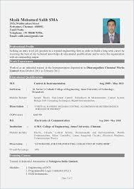 Electrical Engineer Fresher Resume Fluently Electrical Engineering