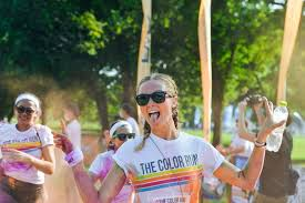 photos from color run thailand  and if the colored powder wasn t enough participants were also splashed water at various points the run was a sort of mix between the n holi