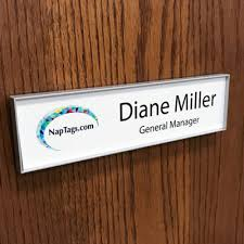 changeable office name plate frames for walls or doors
