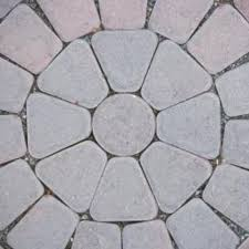 how to lay landscape pavers in a circle