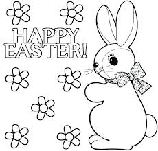 Printable Coloring Pages For Easter Superb Bunny Coloring Cute Bunny
