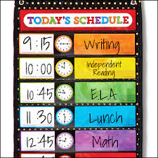 Deluxe Scheduling Gold Polka Dot Pocket Chart