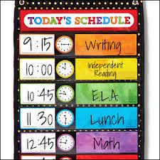 Carson Dellosa Scheduling Pocket Chart Scheduling Pocket Chart Office School Supplies Pocket