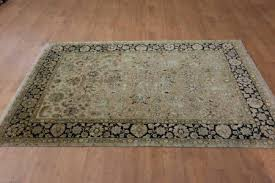 hand knotted royal taj wool silk rug from india