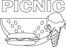 Small Picture Delicious Food for Picnic Coloring Page NetArt