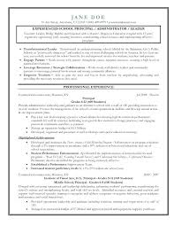 School Principal Resume Samples School Principal Resume Bunch Ideas