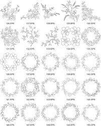 線画ベクター図 6 の花の種類 無料素材イラストベクターのフリー