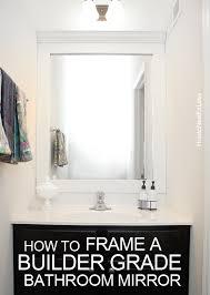 how do you frame a bathroom mirror. how to frame a bathroom mirror do you