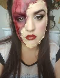 torn off face makeup tutorial
