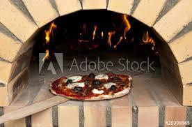 Pizza à La Sortie Dun Four à Bois Buy This Stock Photo And