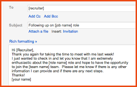 Sample Follow Up Email After Interview Screen Shot 2012 09 28 At
