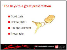 presentations one main idea per slide the first slide is the introductory slide that tells you what topics will be covered in the presentation the second slide is the first slide but