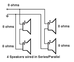 about to wire 8x10 cab will this result in 4 ohms talkbass com my speakers are 8 ohms as below