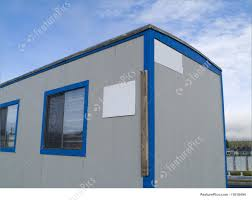 small portable office. Office Architecture: A Small Portable On Wheels At Construction Site Warm E