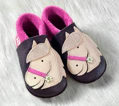 """Soft-Soled Indoor Slippers   Natural Leather """"POLLY"""" - Little Spruce  Organics"""