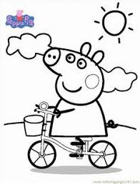 Small Picture Peppa pig cartoon coloring pages for kids printable free