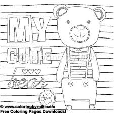 Cute Teddy Bear Boy Coloring Page 1274 Ultimate Coloring Pages