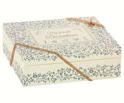 Maileg Box Für Christbaumschmuck In Weiss Blau