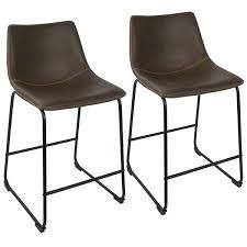 leather bar stools carbon loft faux leather counter stool set of 2 leather bar stools nz leather bar stools