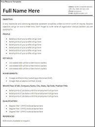 Resume Template Examples Custom Free Sample Resume Templates Example Of For Applying Job Examples