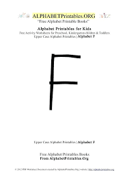 Letter F Templates Printable Capital Letters F Alphabet Uppercase Letter Free Templates