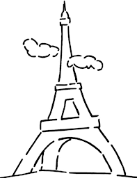 Small Picture Eiffel Tower and Cloudy Sky Coloring Page Eiffel Tower and Cloudy