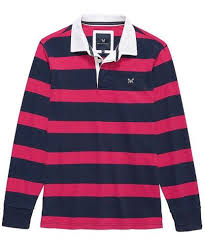 bright rose navy stripe crew clothing long sleeve rugby shirt the best men