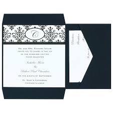 Print Your Own Invites Wilton Black And White Scroll Wedding Invitation Kit 25pc 6 W X 6 H