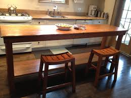 custom made rustic kitchen table