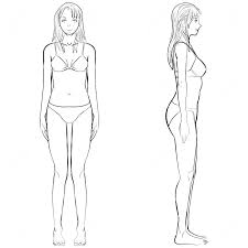 female body outline template female body template front and back