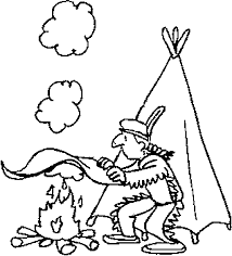 Native American Indian Coloring Pages For Kids American Indians