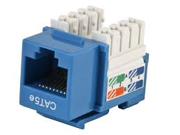 cat5e punch down keystone jack blue monoprice com