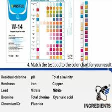 Water Test Color Chart China Customized Water Test Strips14 In 1 For Residential