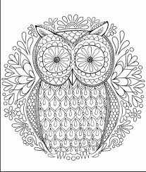 Free Owl Coloring Pages For Adults 5h7k Hard Coloring Pages For