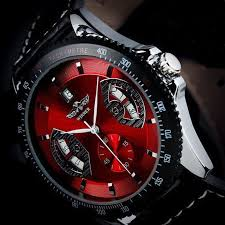 2017 new mens sport red black leather date automatic mechanical productpicture0 productpicture1 productpicture2 productpicture3