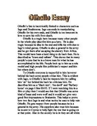 othello s fate is inextricably linked to characters such as iago  page 1 zoom in