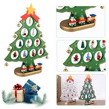 diy wooden ornaments festival party xmas tree table desk wooden table decorations