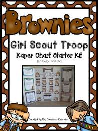 Brownie Girl Scout Kaper Chart