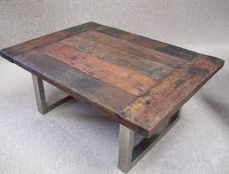 reclaimed wooden tables and benches