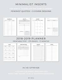 Hourly Planner 2020 2019 2020 Planner Printable Filofax A5 Inserts Academic