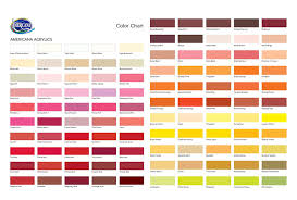 Acrylic Paint Conversion Chart Americana To Delta Ceramcoat Americana Paint Delta Conversion Chart Painting Style